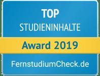 Fernstudiumcheck Award 2019 Top Studieninhalte