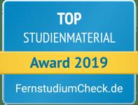 Fernstudiumcheck Award 2019 Top Studienmaterial
